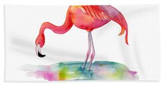 Flamingo Dip Beach Towel