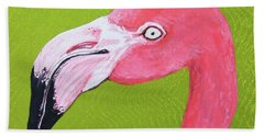 Flamingo Head Beach Towel