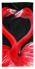 Love  Is... Flamingo Love. Inspirations Collection Beach Towel