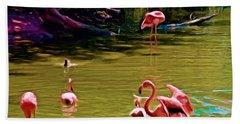 Flamingo Party Beach Sheet