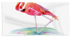 Flamingo View Beach Towel
