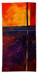 Flash Abstract Painting Beach Towel