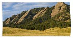 Flatiron Morning Light Boulder Colorado Beach Sheet