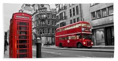 Fleet Street London Beach Towel