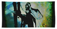 Fleetwood Mac - Cover Art Design Beach Towel by Absinthe Art By Michelle LeAnn Scott