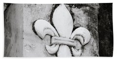 Fleur De Lys Beach Sheet by Shaun Higson