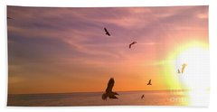 Beach Towel featuring the photograph Flight Into The Light by Chris Tarpening