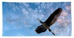 Flight Of The Heron Beach Towel