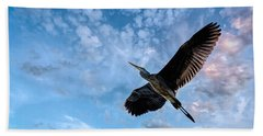 Flight Of The Heron Beach Towel
