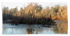 Beach Towel featuring the photograph Flint River 27 by Kim Pate