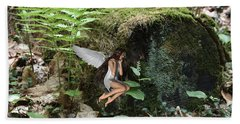Floating Fairy In Forest Beach Towel