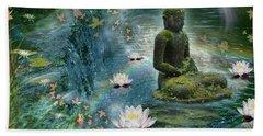 Floating Lotus Buddha Beach Towel