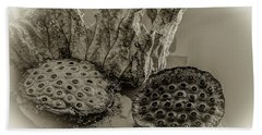 Floating Lotus Seed Pods 2 Beach Sheet