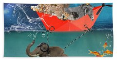 Floating Zoo Beach Towel by Juli Scalzi