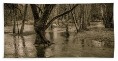 Flooded Tree Beach Towel