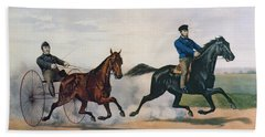 Flora Temple And Lancet Racing On The Centreville Course Beach Towel