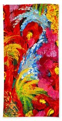 Floral Abstract Part 2 Beach Towel