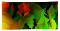 Beach Sheet featuring the digital art Floral Abstraction 090814 by David Lane