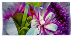 Floral Array Beach Sheet by Linda Bianic