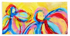 Abstract Flowers Silhouette No 12 Beach Towel