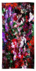 Floral Expression 021015 Beach Towel by David Lane