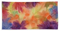 Floral Fantasy Beach Sheet by Ellen Levinson