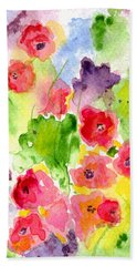 Beach Sheet featuring the painting Floral Fantasy by Paula Ayers