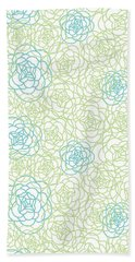 Floral Lines Beach Towel