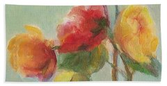 Floral Painting Beach Towel