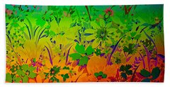 Beach Towel featuring the photograph Floral Rainbow by Judy Palkimas