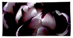 Floral Symmetry Beach Towel by Rona Black