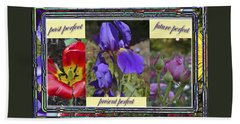 Beach Sheet featuring the photograph Floral Tenses by Larry Bishop