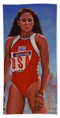 Florence Griffith - Joyner Beach Towel