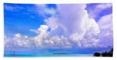 Florida Bay At Shell Pass Filtered Beach Towel