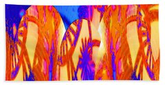 Florida Splash Abstract Beach Towel