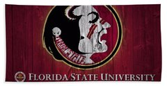 Florida State University Barn Door Beach Towel