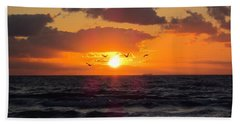 Florida Sunrise Beach Towel by MTBobbins Photography