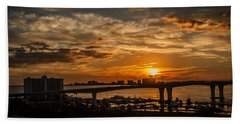 Beach Towel featuring the photograph Florida Sunset by Jane Luxton