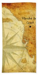 Florida's Gulf Coast Beach Towel by Beverly Stapleton