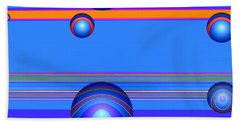 Beach Towel featuring the digital art Flotation Devices - Berry by Wendy J St Christopher