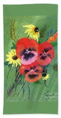 Flower Bunch Beach Towel by Francine Heykoop