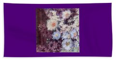 Beach Towel featuring the painting Flower  Burst by Richard James Digance