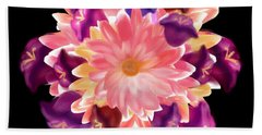 Flower Circle Beach Towel by Christine Fournier