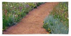 Flower Path Beach Sheet