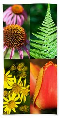 Flower Photo 4 Way Beach Sheet