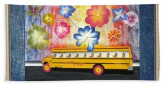 Flower Power Beach Towel by Ron Davidson