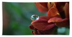 Beach Sheet featuring the photograph Flower Reflection by Michelle Meenawong