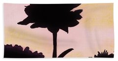 Beach Towel featuring the drawing Flower - Sunrise by D Hackett
