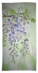 Flowering Wisteria Beach Towel