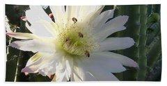 Flowering Cactus 5 Beach Sheet